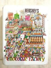 1992 Hershey's The Great American Chocolate Factory Tin Signed Box Bruce Johnson