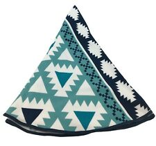 Round Beach Towel by Safdie & Co. Blue Teal White