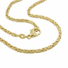 Dünne Königskette 585 echt Gold 50 cm 14 Karat Anhängerkette Unisex Halskette