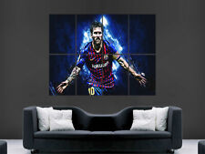 LIONEL MESSI POSTER PRINT FC BARCELONA THE GOAT FOOTBALL ART LARGE