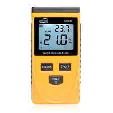 Induction Wood Moisture Meter Temperature Humidity Tester Hygrometer