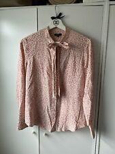 Rails Pure Silk Pink Leopard Print Blouse Size XS