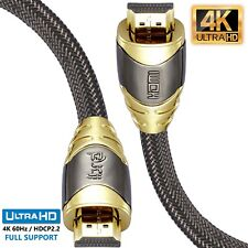 1.5M(2 pack) - LUXURY Braided HDMI Cablev2.0 1.4a GOLD UltraHD HDTV 2160P 4K PS4