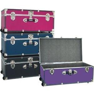 Storage Trunk Footlocker Travel Organizer Box Dorm College Luggage Chest