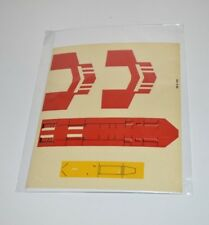 Vintage Star Wars X-WING Original Unused Decal Sticker Label Sheet 1977