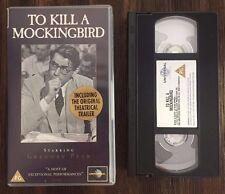TO KILL A MOCKINGBIRD PAL VHS (1962, B&W, VHR 1965) P107