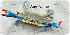 Blue Crab Novelty Car Any Name Personalized Auto Tag License Plate