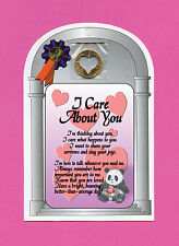 I Care About You Verse Card w Heart Penny - SKU# 718