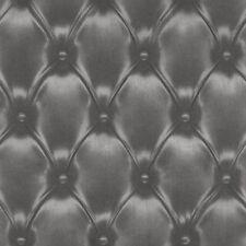Vlies Tapete rasch BARBARA BECKER 479539 Leder Optik 3D Chesterfield Schwarz