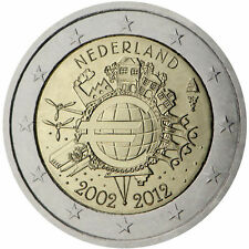 "Netherlands 2 euro comm. coin 2012 ""TYE 10 Year of Euro cash "" Uncirculated NEW"