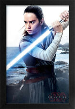 STAR WARS THE LAST JEDI REY SEA 13x19 FRAMED GELCOAT POSTER EPISODE XIII NEW HOT