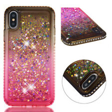 Shockproof Bling Dynamic Liquid Glitter Gradient Quicksand Case Cover For Phones