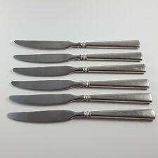 Oneida Heirloom EASTON Set of 6 Dinner Knives Stainless Cube Logo