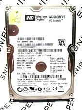 Western Digital 60GB WD600BEVS-22LAT0 SATA Laptop Hard Drive WIPED&TESTED!