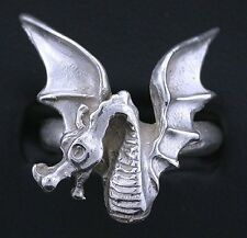 Fire Dragon Pure Sterling Silver Casted Ring Size Sz7