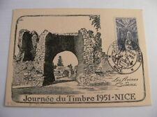 Carte journée du timbre 1951 ( du 10/03/1951 à NICE )
