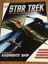 Star Trek Klingon Augments Vessel Die Cast Metal Ship-#53 Eaglemoss