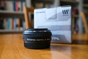 Olympus Zuiko 25mm f/2.8 Lens, Four Thirds Mount, Boxed and Superb Condition