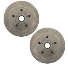 Pair Set of 2 Front C-Tek Brake Disc Rotors For Ford Lincoln Mercury Marquis