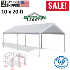 White Heavy Duty Canopy Tent 10x20 FT Steel Carport Portable Car Shelter 6 Legs