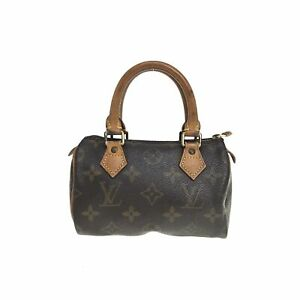 100% authentic Louis Vuitton Monogram Mini Speedy Handbag M41534 Used {02-073C}