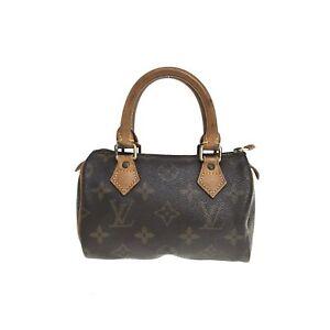 100% authentic Louis Vuitton Monogram Mini Speedy Handbag M41534 Used {02-073C}