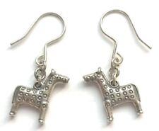 "KALEVALA KORU KK Finland - Sterling Silver Earrings ""Runoratsu"" ""Horse"" - RARE"