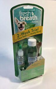 Tropiclean Fresh Breath Dog/Puppy Dental Kit Oral Care No Brushing! +Bonus Chew