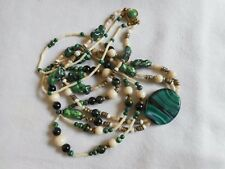 """Vintage Statement Venetian Murano made in Italy 2 strand necklace, 32"""""""