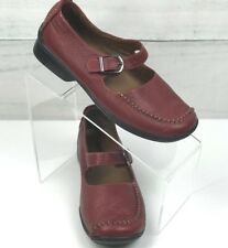 Red Hush Puppies Leather Shoes Size 6.5 M  Mary Jane Style  A2313-10