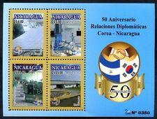 NICARAGUA - KOREA - DIPLOMATIC RELATIONSHIPS, Block, 2012, MNH, VF