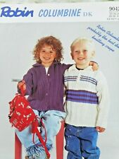 CHILD KNITTING PATTERN, CARDIGAN & POLO JUMPER. DK.1-11 Yrs. FOR CHARITY 🎁