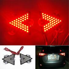 2 Pcs 39 LED Indicators Stop Brake Lights 3 Sucking Discs RED Rear High Mount