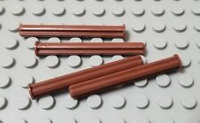 LEGO New Lot of 4 Reddish Brown 5L Technic Axles with Stop End