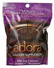 Adora Calcium Supplement Organic Dark Chocolate 500mg 30 Count Each