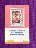 TESSERA FILATELICA 2006 I DICIOTTENNE ROSA RICERCATISSIMI