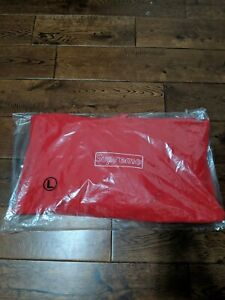 SUPREME KAWS Chalk Box Logo Red Large Hoodie Sweatshirt *SHIP FAST!!!*