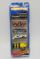 "Vintage 1998 Hot Wheels ""Ocean Blasters"" 5 Car Gift Pack 1/64 Die Cast Mattel"