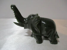 "Dark Green Jade Small Elephant 2 1/2"" Long No Damage"