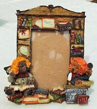3D Teddy Bears with Books Photo Frame. Novelty.