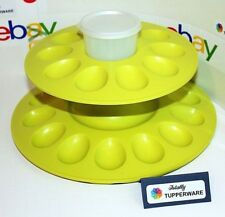 Tupperware Egg-Ceptional Hors d'oeuvres Server Set Chartreuse