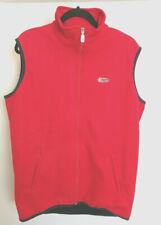 Biemme Cycling Fleece Full Zip Vest Red Black Size Xtra Large Zip Pockets Italy