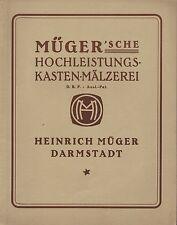 DARMSTADT, Katalog 1921, Heinrich Müger Mälzerei Keinkasten-Konstruktion Kohlen