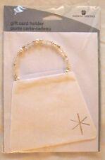 Christmas - Hanukkah - Holiday - Winter White Gift Card Holder Bead Handle