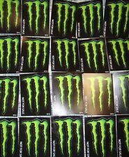 "~~20 MONSTER ENERGY DRINK DECAL STICKERS~(3.5 x 5"")~OEM~ORIGINAL GREEN~~"