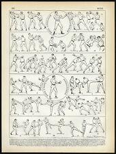 Antique Print-SPORT-BOXING-Larousse-1897