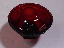 Vintage Avon Cape Cod Ruby Red Glass  Footed Serving  Bowl Open  Candy Dish
