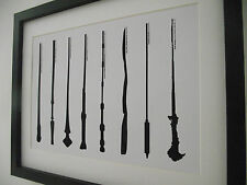 Harry Potter Inspired Magic Wand / Wands Picture - A4 Art Print / Poster - Gift
