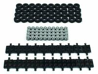 ☀️NEW Lego Tire, Wheel and Square Axles Bulk Lot - 100 Pieces Total