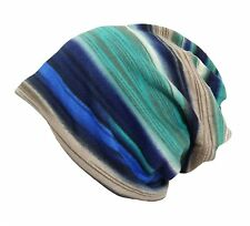 Qunson Womens Colorful Striped Chemo Beanie Cap Hat for Cancer Patients
